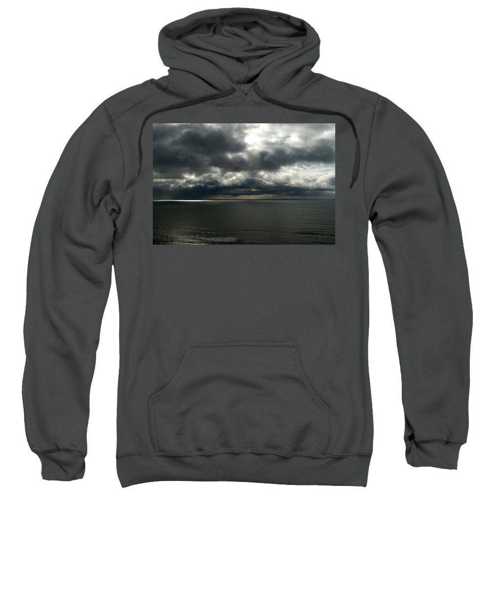 Cloud Sweatshirt featuring the photograph Stormy Dorset by Chris Day