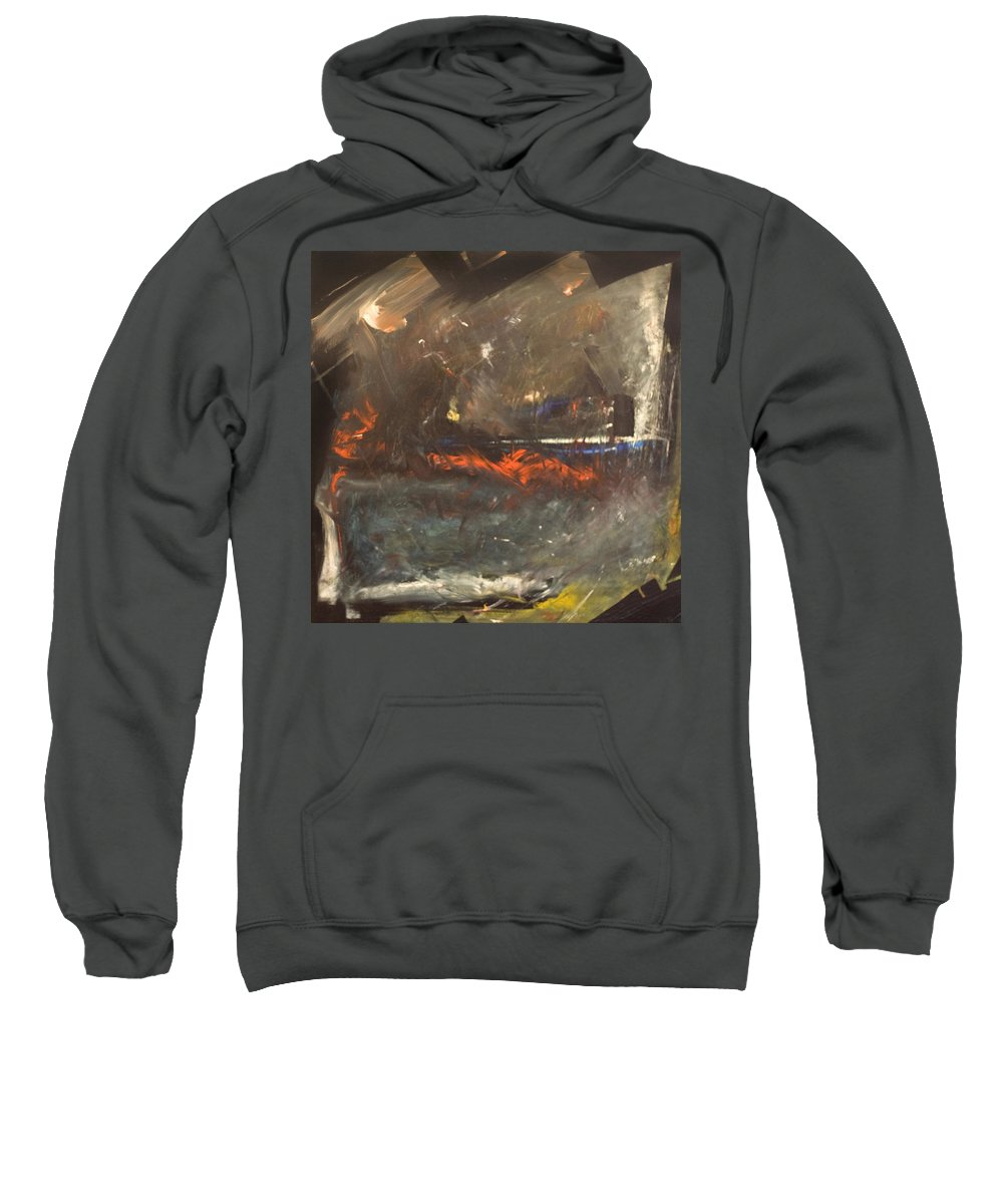 Storm Sweatshirt featuring the painting Stormy Monday by Tim Nyberg