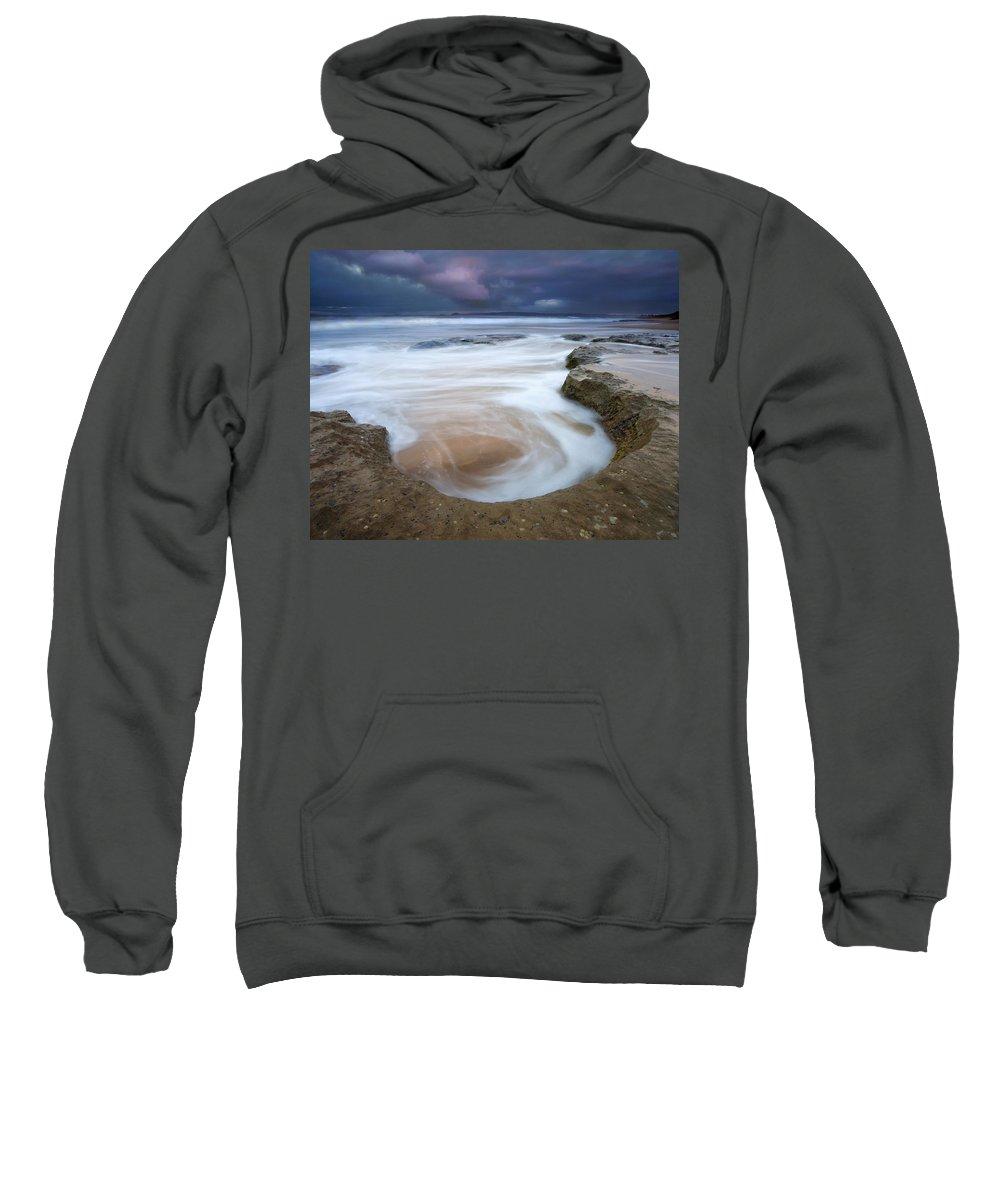 Sunrise Sweatshirt featuring the photograph Stormy Sunrise by Mike Dawson