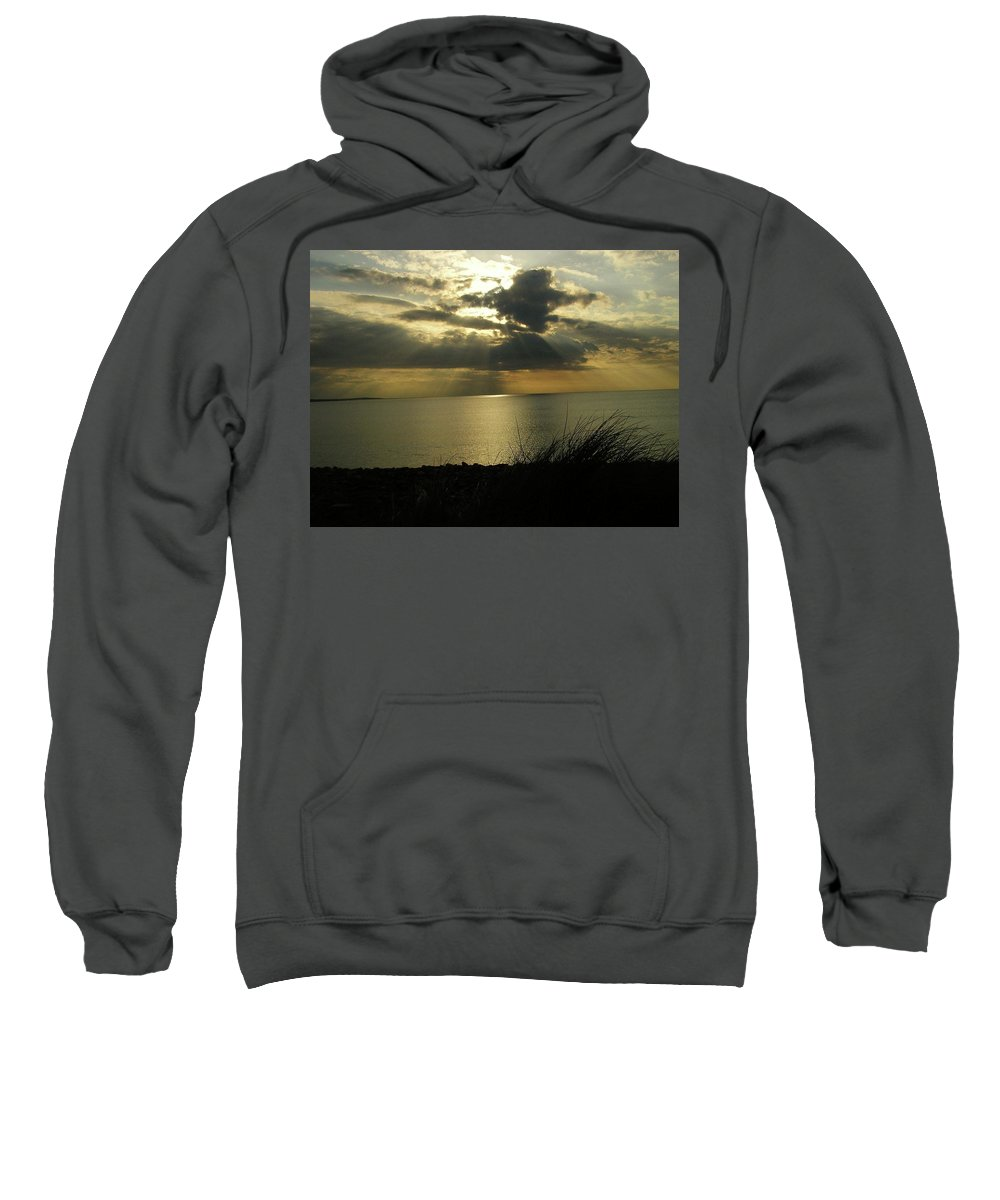 Seascape Sweatshirt featuring the photograph Strandhill Co Sligo Ireland by Louise Macarthur Art and Photography
