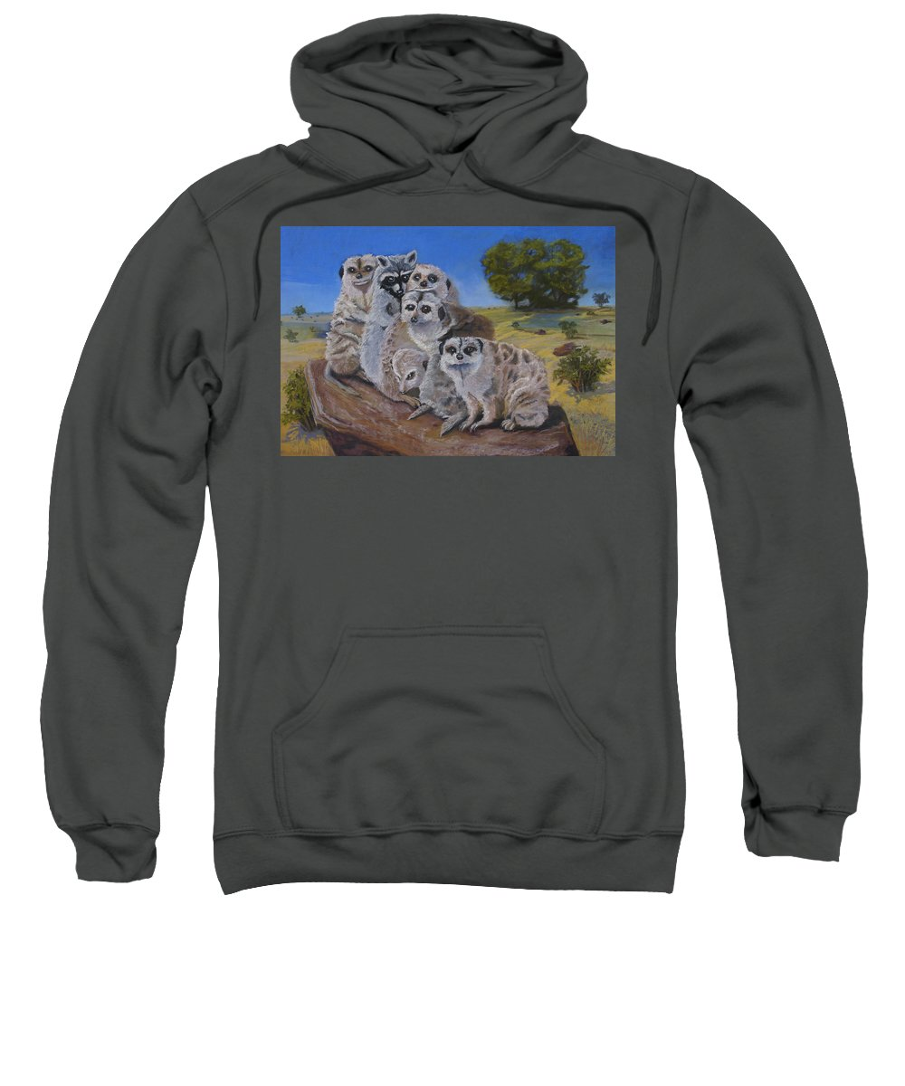 Meer Cat Sweatshirt featuring the painting Stranger In A Strange Land by Heather Coen