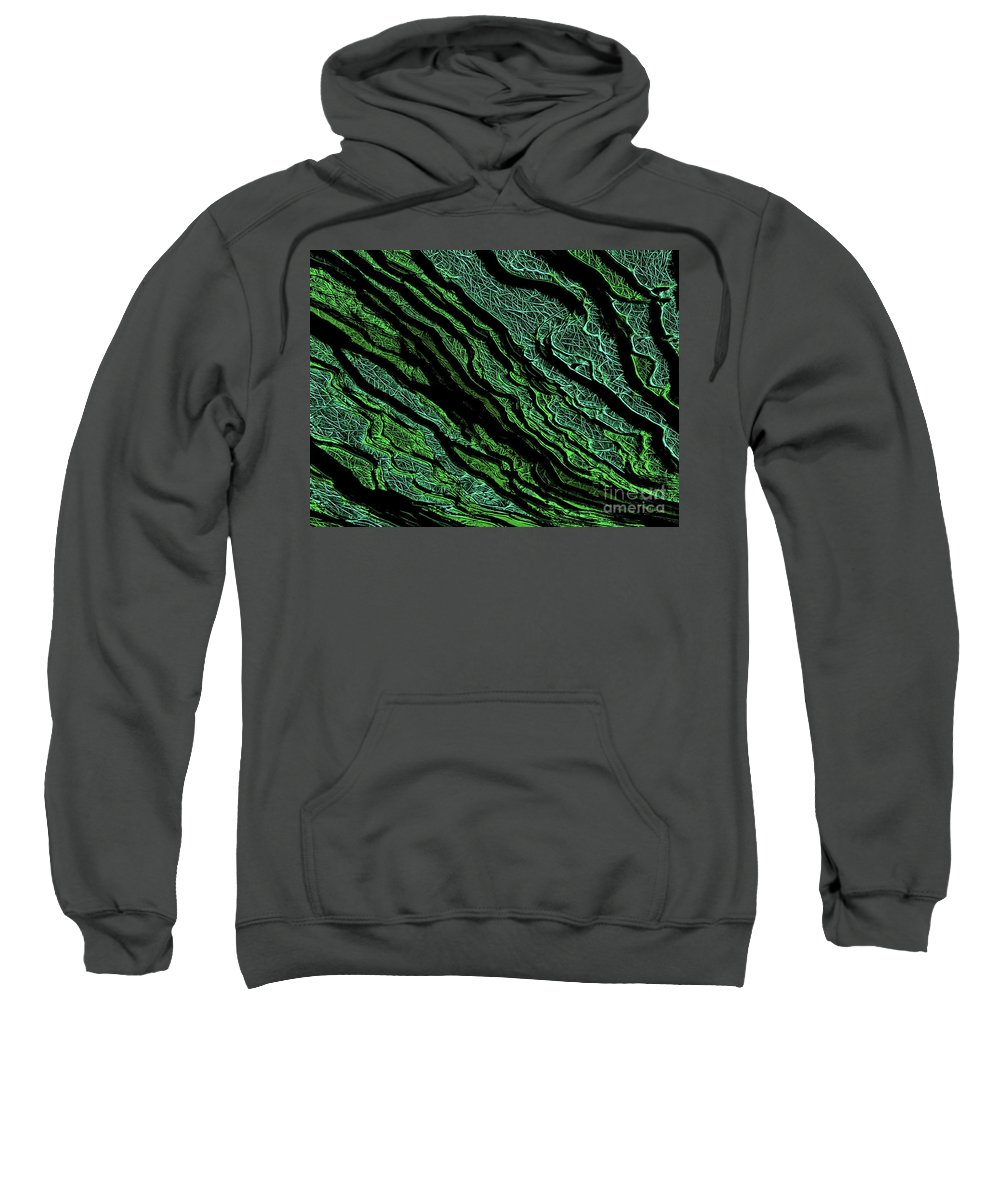 Digital Abstract Sweatshirt featuring the digital art Stratification by Tim Richards