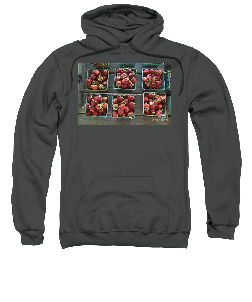 Strawberry Sweatshirt featuring the photograph Strawberries by Steven Dunn