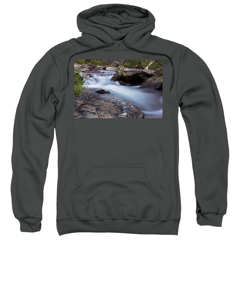 Streams Sweatshirt featuring the photograph Stream #3 by David Lunde