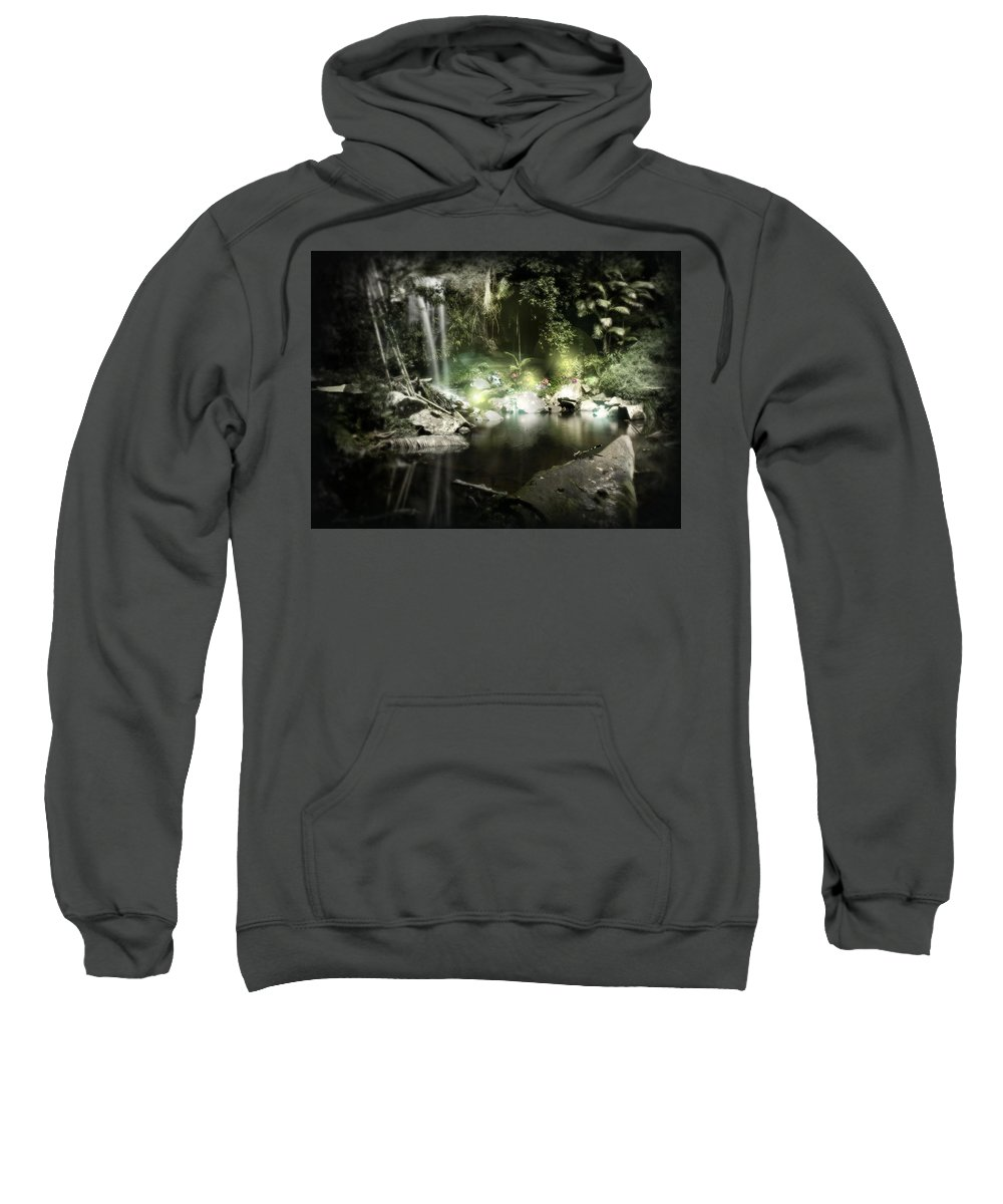 Stream Sweatshirt featuring the digital art Stream by Bert Mailer