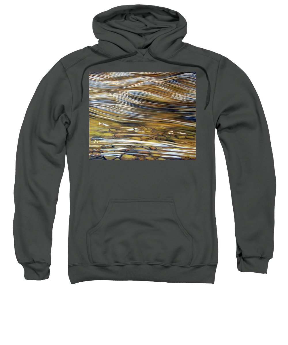 Water Sweatshirt featuring the painting Stream Of Consciousness by Brian Commerford