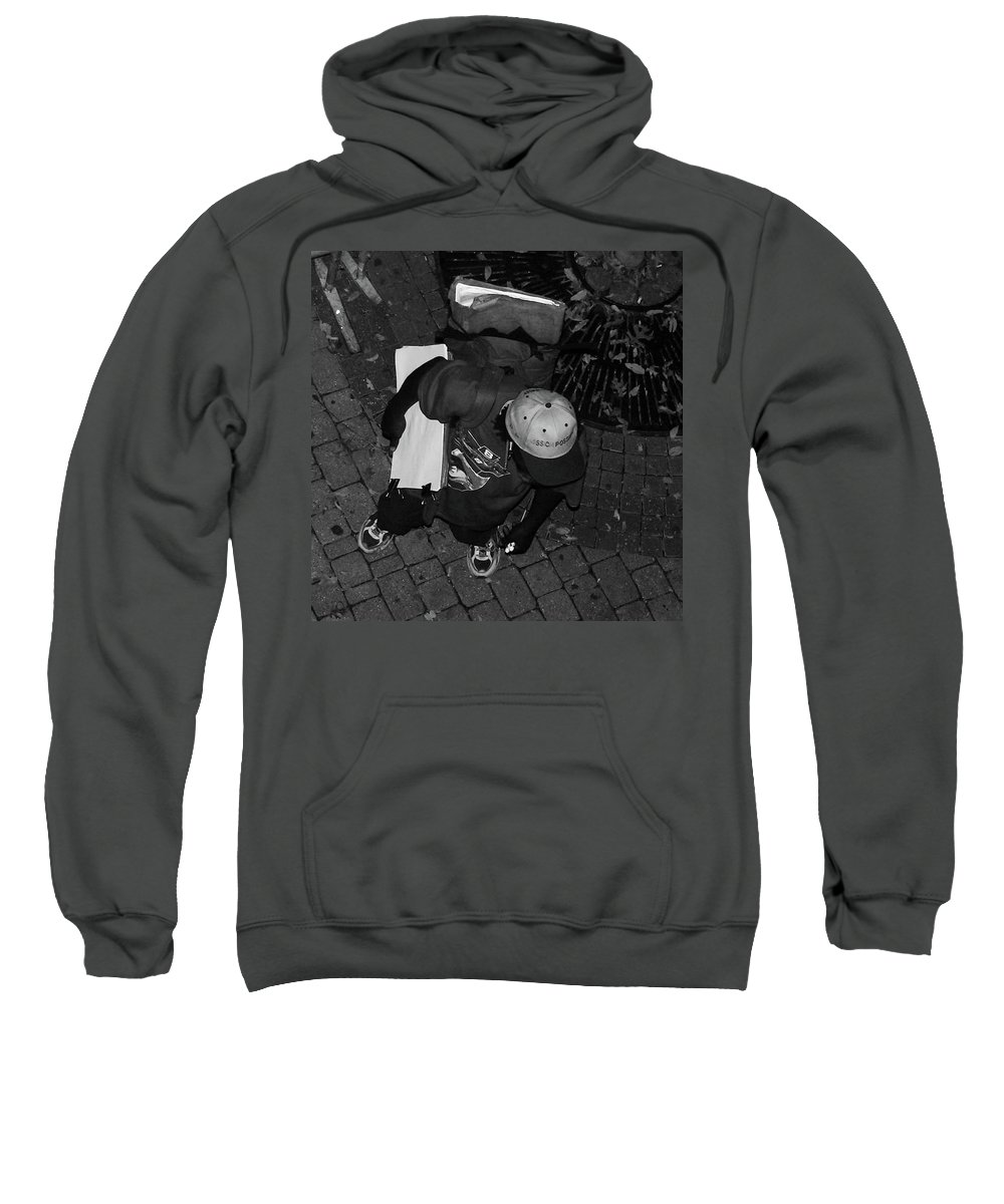 Urban Sweatshirt featuring the photograph Street Artist by Angela Wright