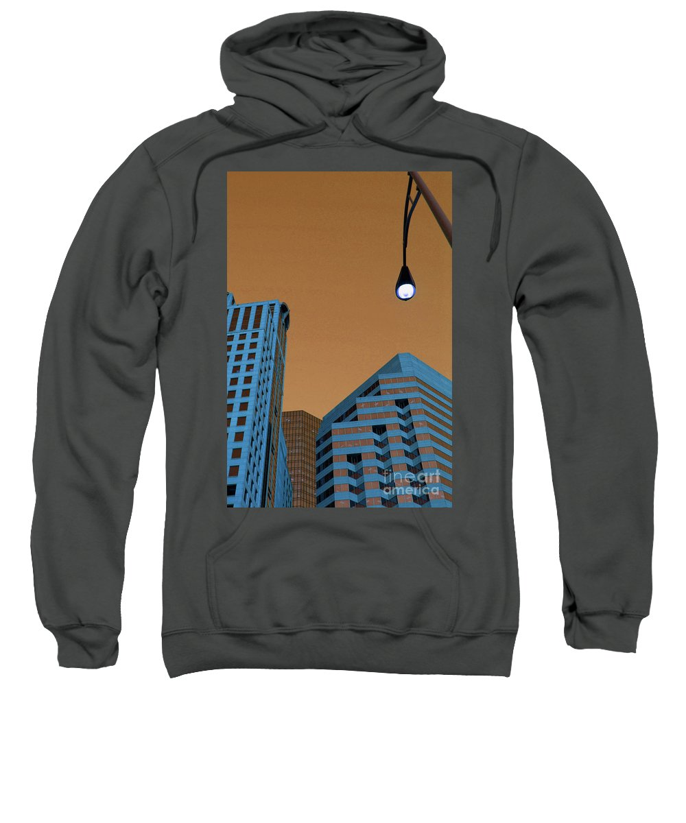 City Sweatshirt featuring the photograph Street View by Karol Livote