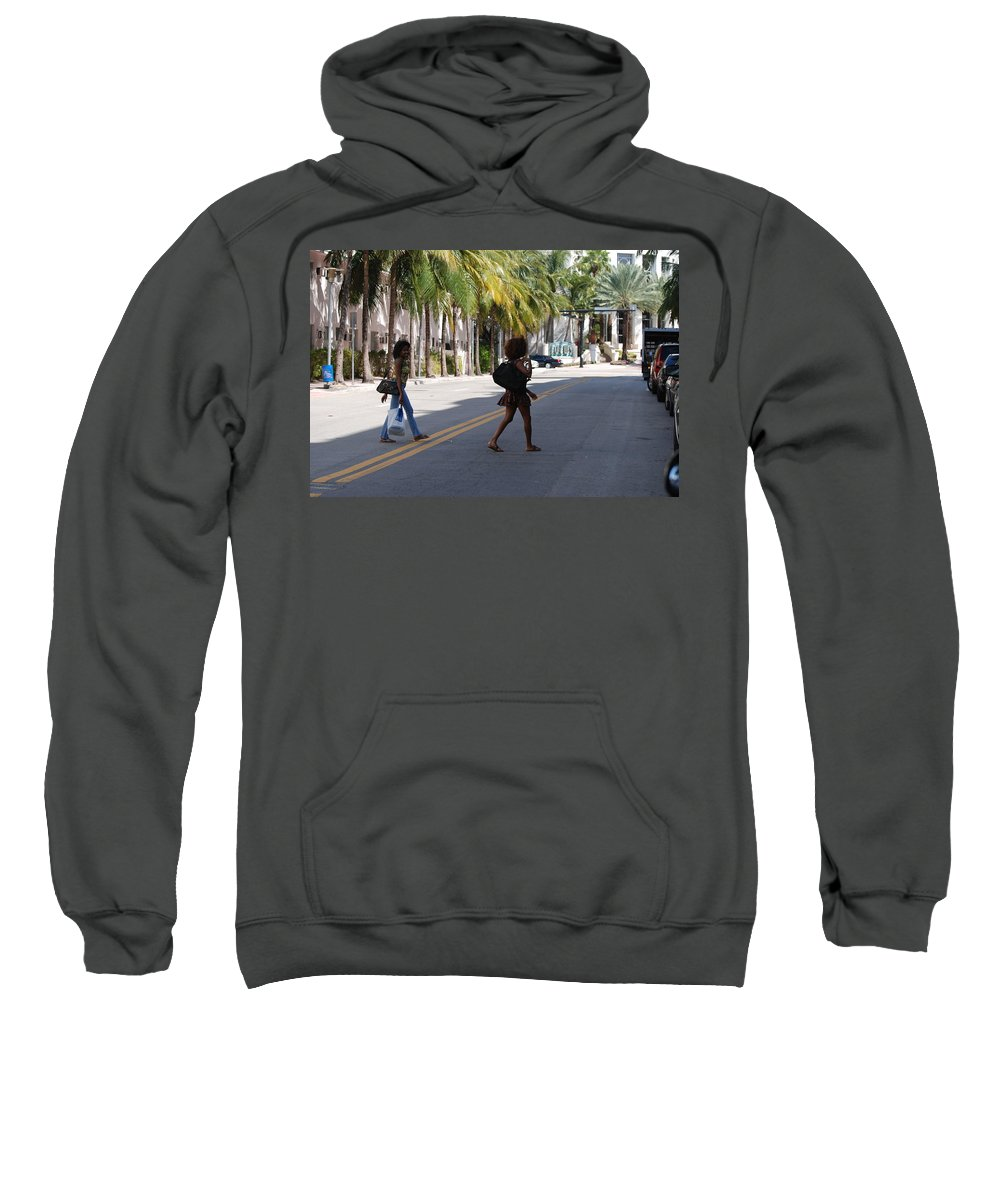 Girls Sweatshirt featuring the photograph Street Walkers by Rob Hans