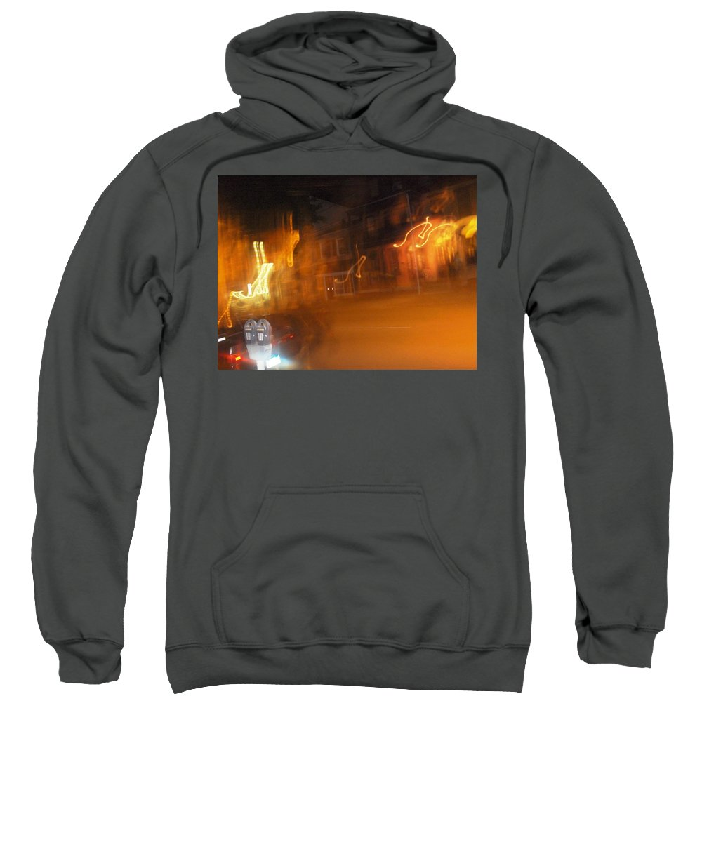 Photograph Sweatshirt featuring the photograph Streets On Fire by Thomas Valentine
