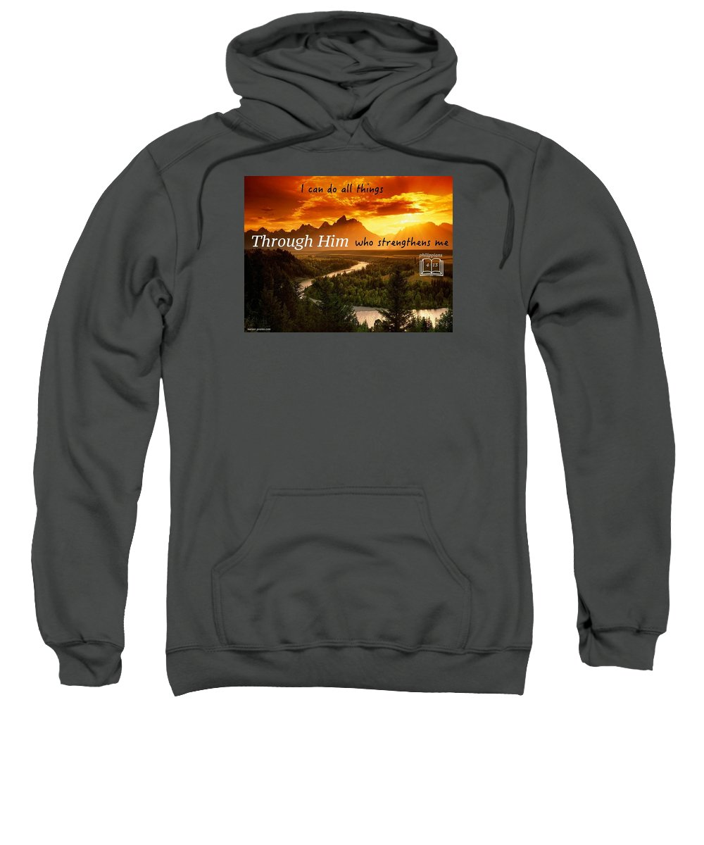 Sweatshirt featuring the photograph Strength1 by David Norman