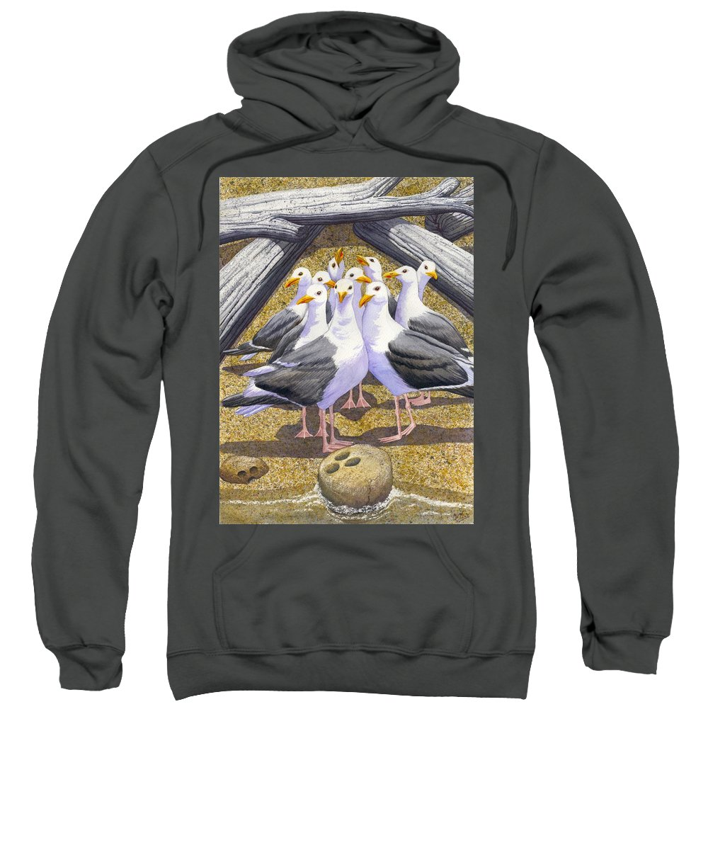 Beach Sweatshirt featuring the painting Strike by Catherine G McElroy