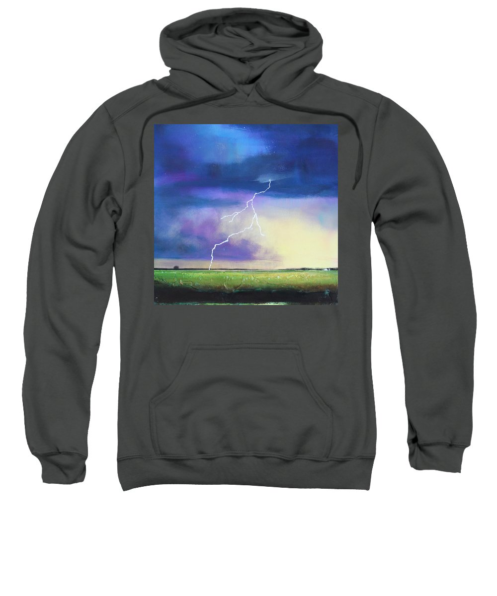 Sky Sweatshirt featuring the painting Strike From The Heavens by Toni Grote