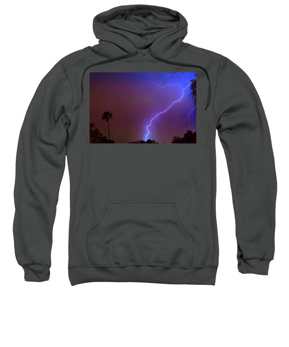 Lightning Sweatshirt featuring the photograph Striking Out by James BO Insogna