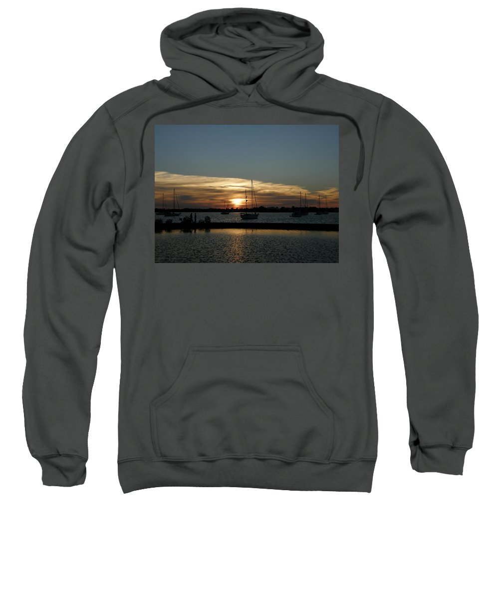 Sun Sweatshirt featuring the photograph Strolling In The Sunset by Kimberly Mohlenhoff