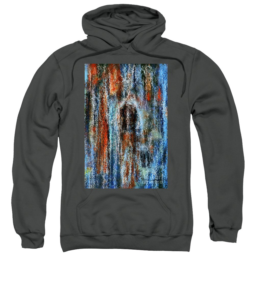 Sweatshirt featuring the digital art Stump Revealed by David Lane