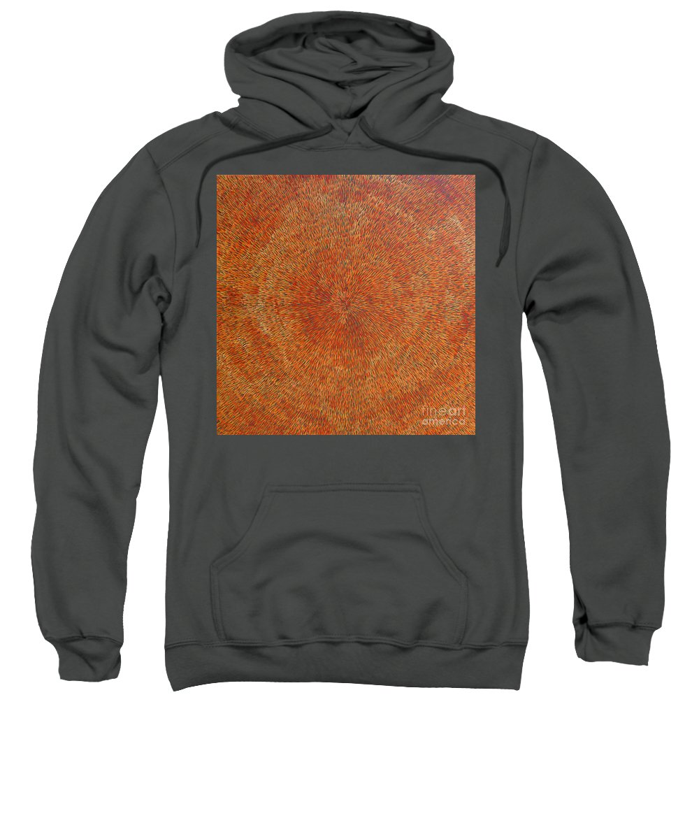 Abstract Sweatshirt featuring the painting Su Gaia Earth by Dean Triolo