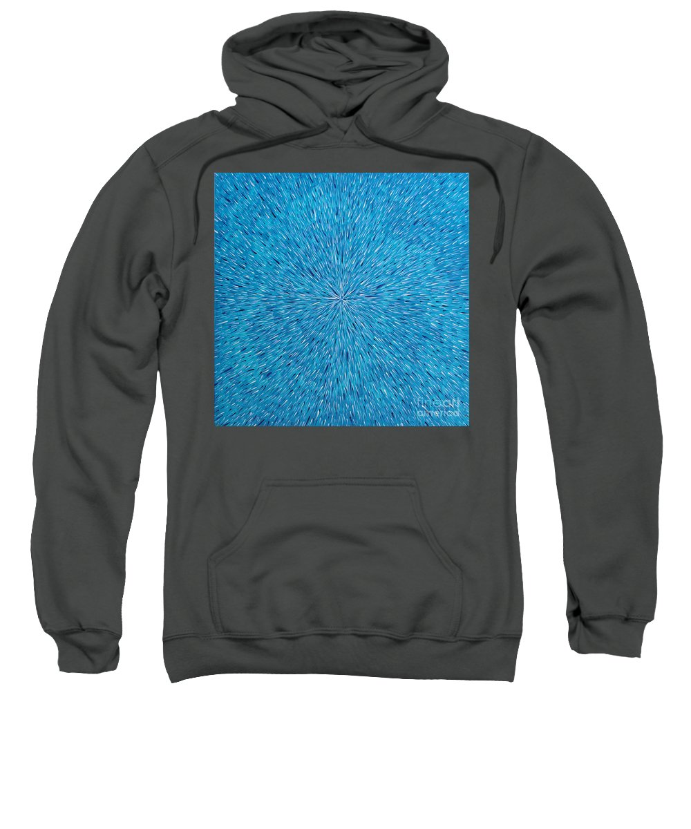 Abstract Sweatshirt featuring the painting Su Gaia Rain by Dean Triolo