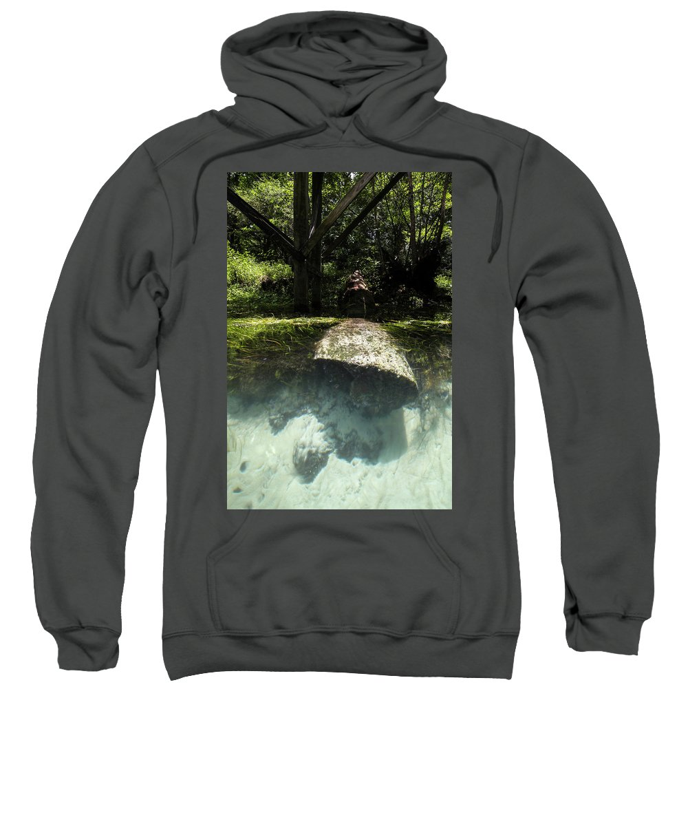 River Sweatshirt featuring the photograph Submerged by Charlie Grindrod