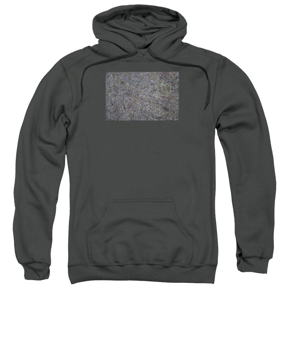 Texture Sweatshirt featuring the photograph Subtle Lichen On Granite Texture by Black Crow Landing