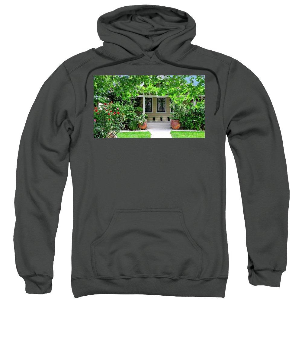 Arts And Crafts Sweatshirt featuring the photograph Suburban House Hayward California 17 by Kathy Anselmo
