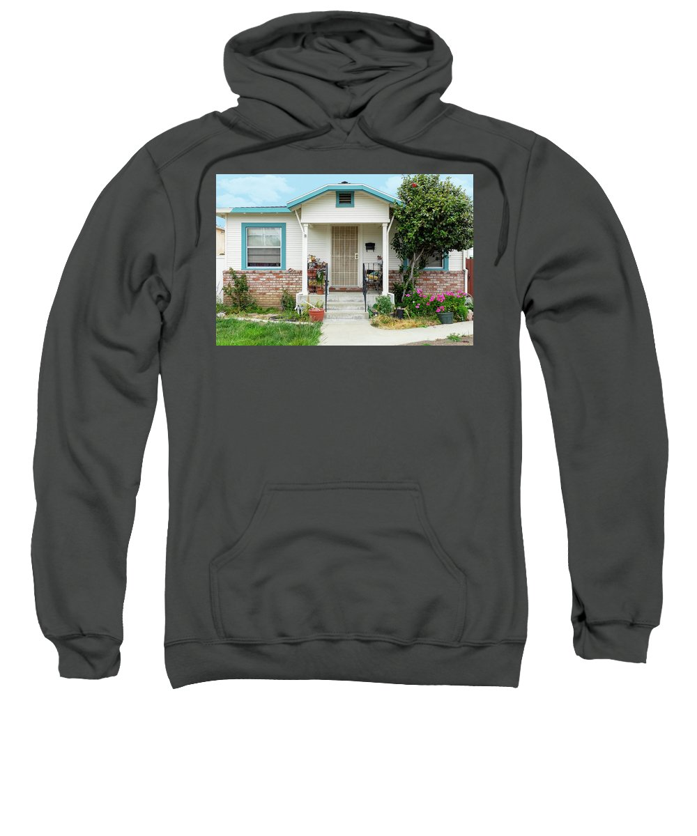 Suburbia Sweatshirt featuring the photograph Suburban House Hayward California 20 by Kathy Anselmo