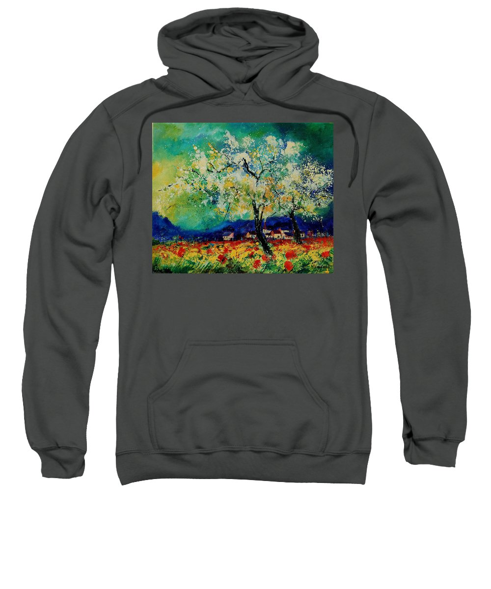 Spring Sweatshirt featuring the painting Summer 5691235 by Pol Ledent