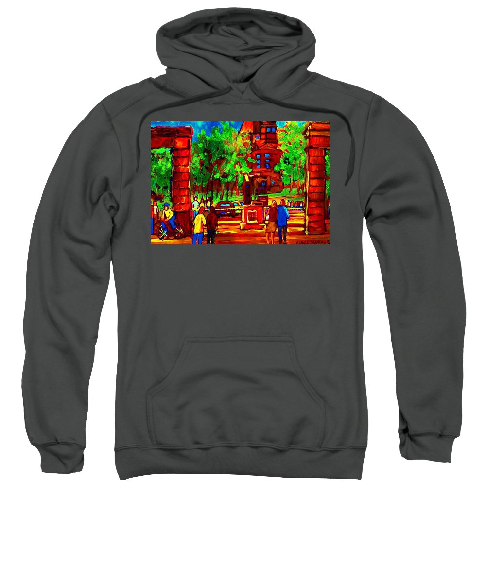 Mcgill University Sweatshirt featuring the painting Summer At Mcgill University by Carole Spandau