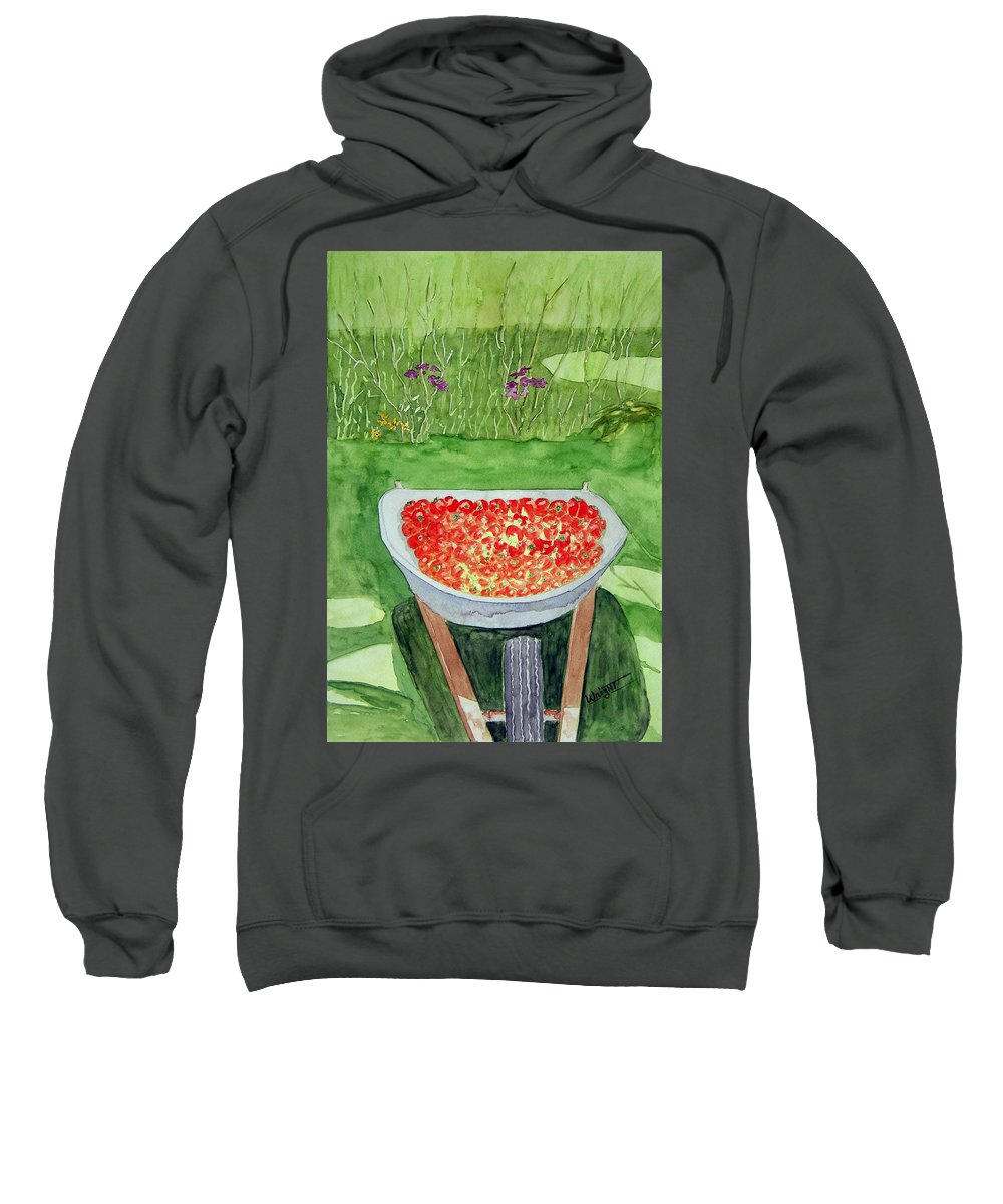 Rural Paintings Sweatshirt featuring the painting Summer Bounty by Larry Wright