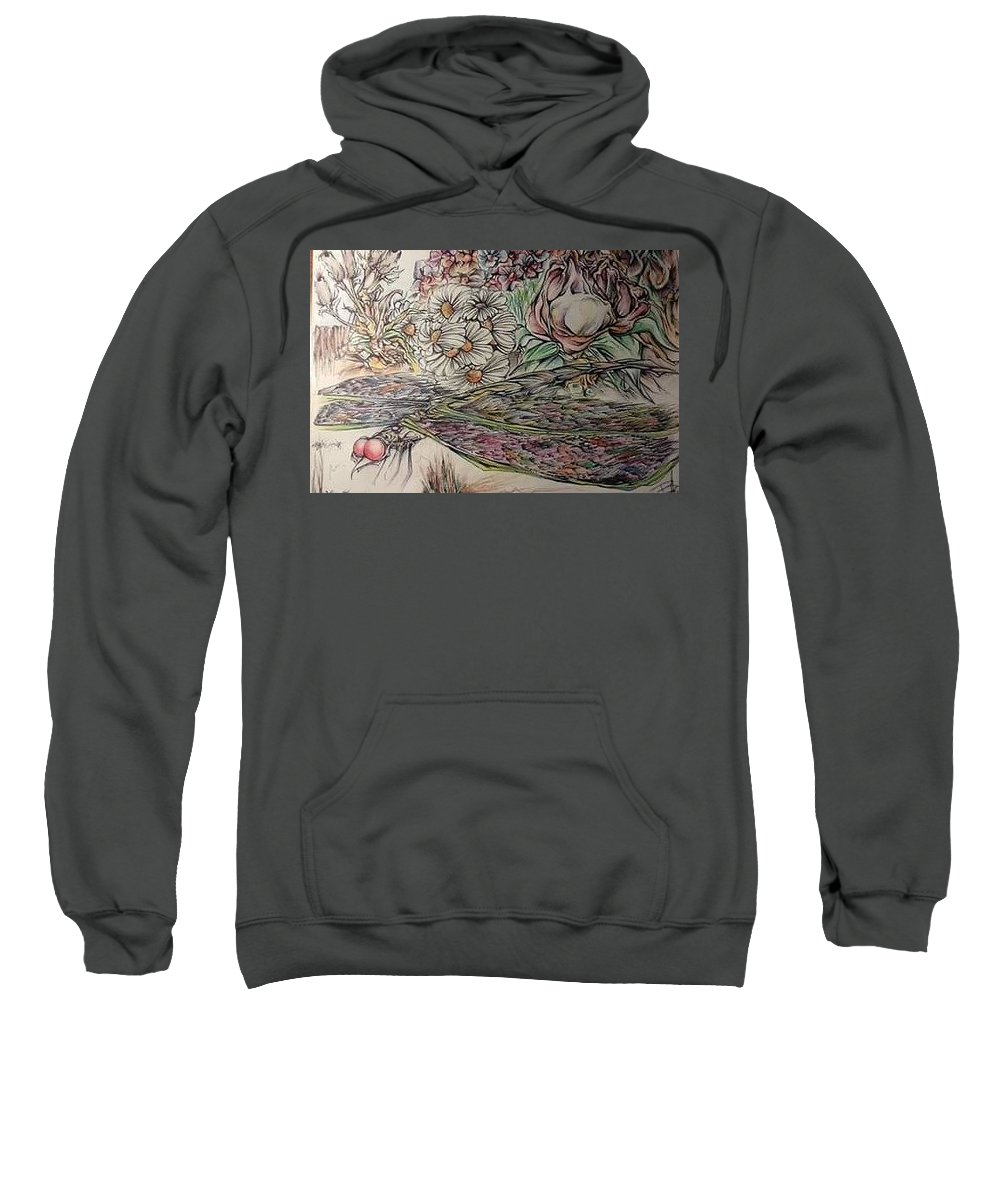 Dragonfly Sweatshirt featuring the drawing Summer Flight by Bree Anderson