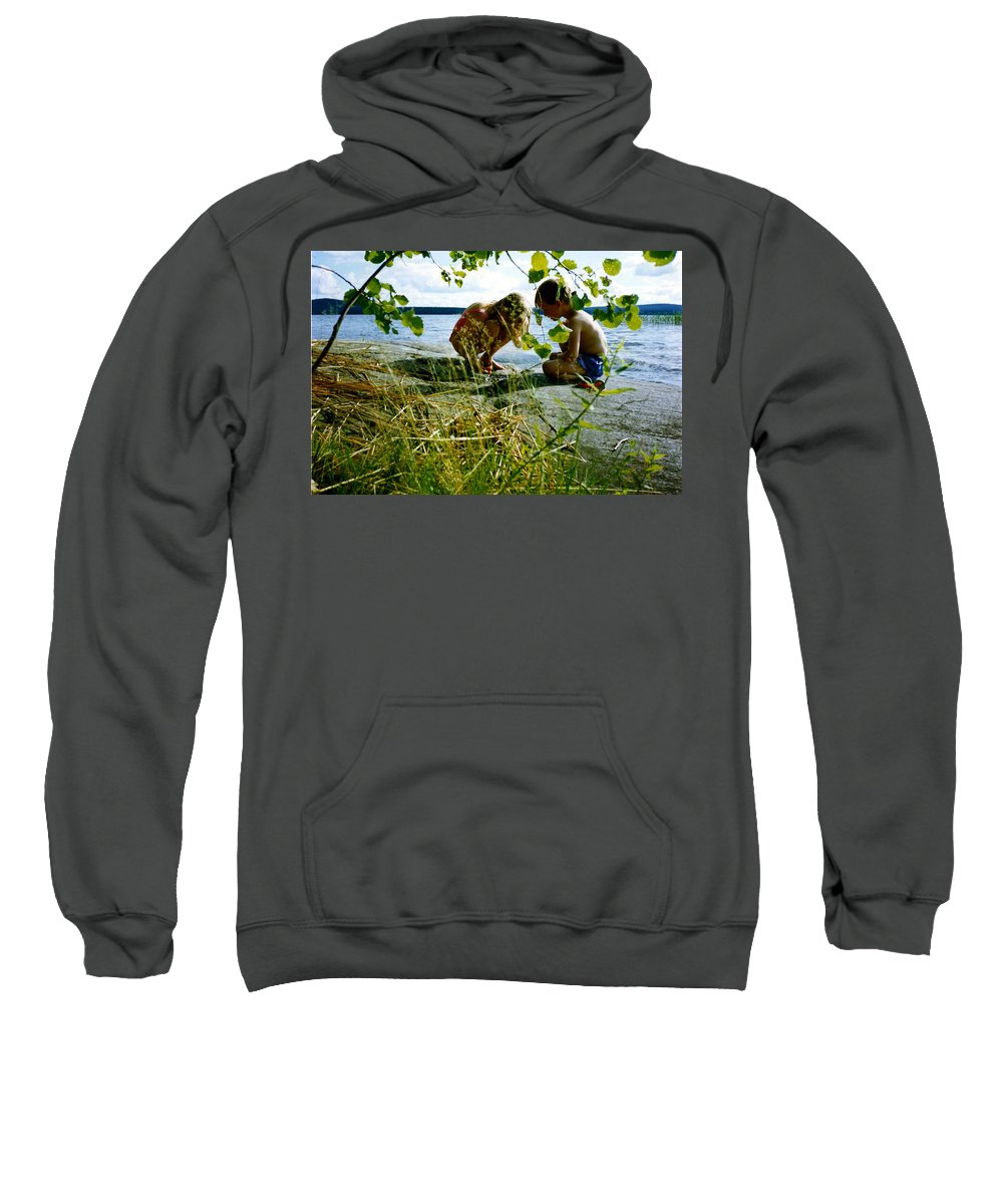 Kids Sweatshirt featuring the photograph Summer Fun In Finland by Merja Waters