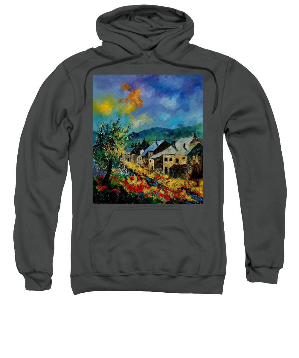 Poppies Sweatshirt featuring the painting Summer In Mogimont by Pol Ledent