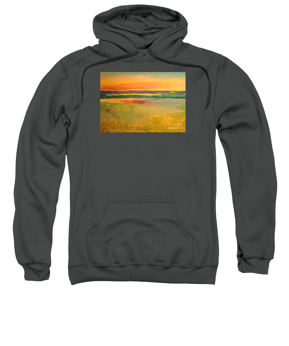 Summer Sweatshirt featuring the painting Summer Meadow by Crystal Miller