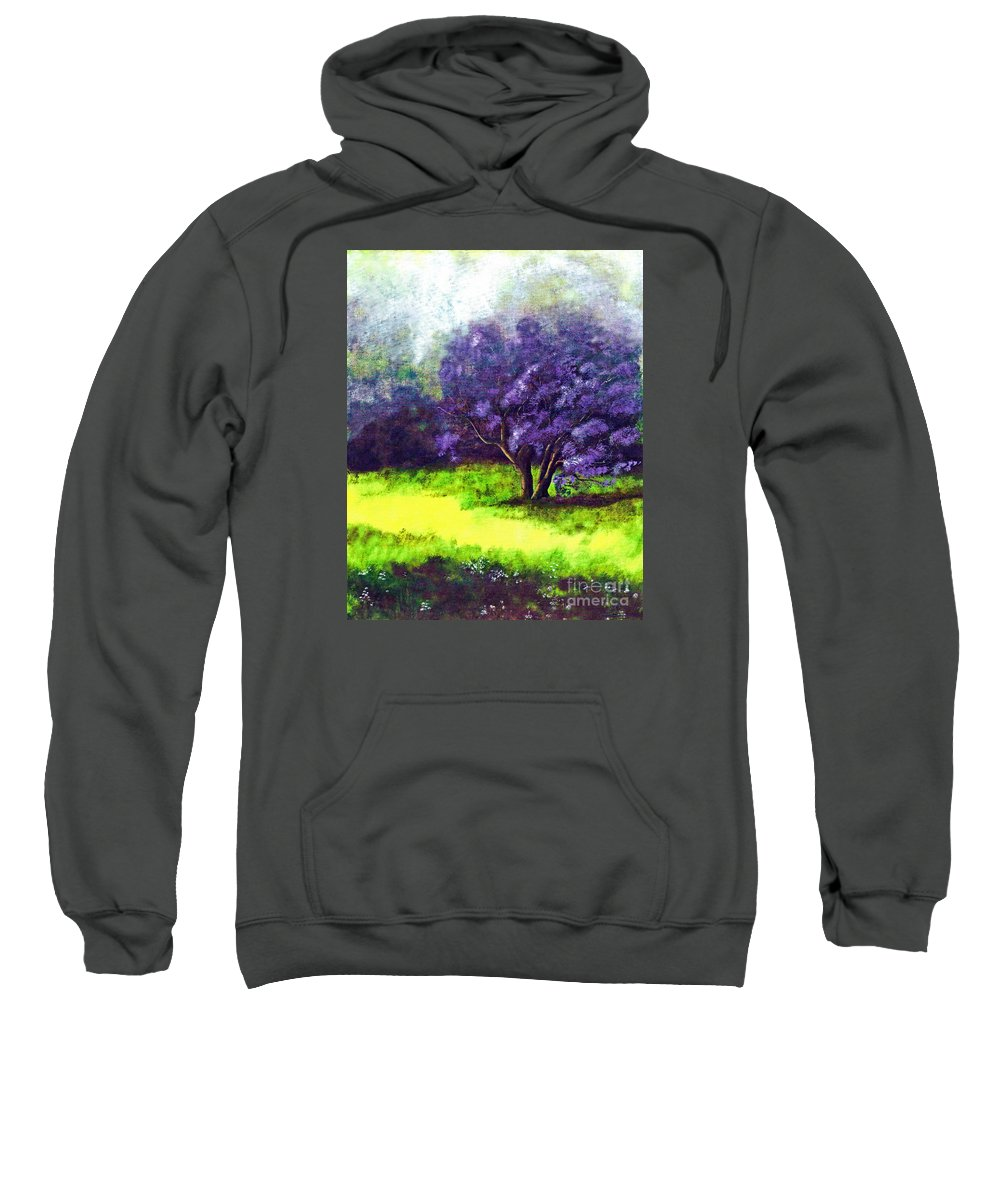 Fine Art Print Sweatshirt featuring the painting Summer Mist by Patricia Griffin Brett