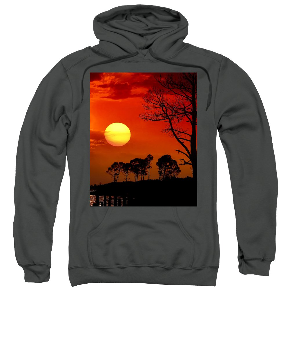 Fort Walton Beach Sweatshirt featuring the photograph Summer Nights by Janet Fikar