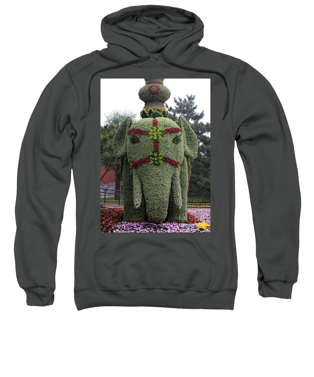 Elephant Sweatshirt featuring the photograph Summer Palace Elephant 2 by Carol Groenen