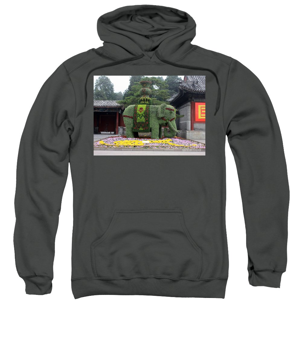Summer Palace Sweatshirt featuring the photograph Summer Palace Elephant by Carol Groenen