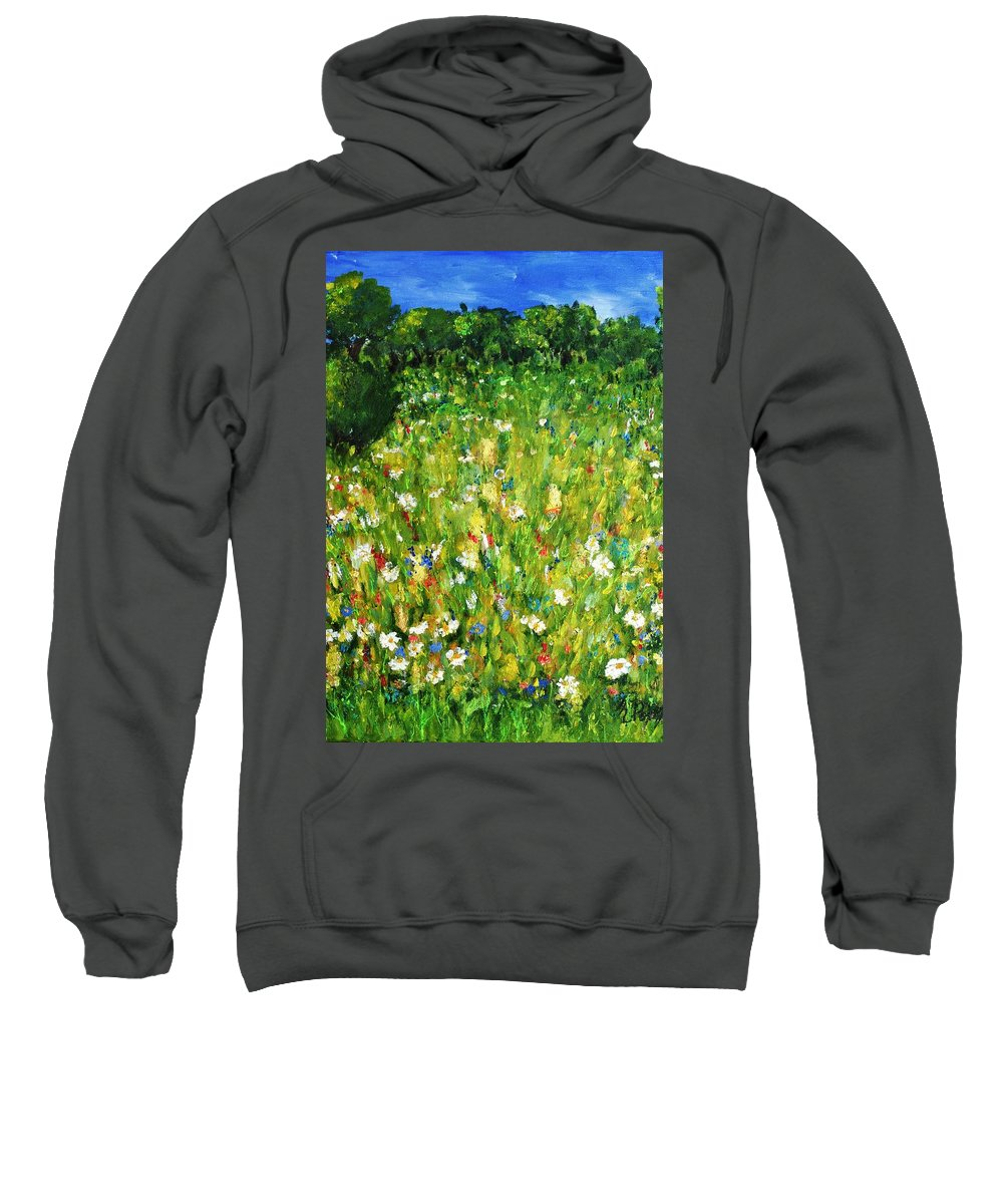 Landscape Sweatshirt featuring the painting The Glade by Evelina Popilian