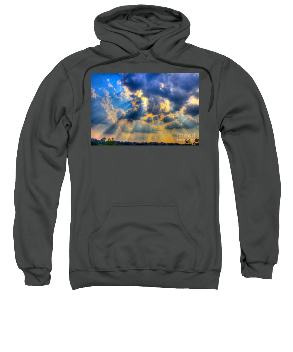 Sun Beam Sweatshirt featuring the photograph Sun Beams-4 by Robert Pearson