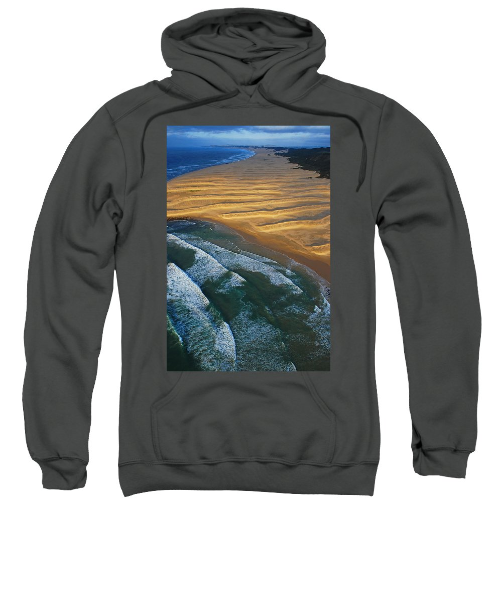 Coast Sweatshirt featuring the photograph Sun Rise Coast by Skip Hunt