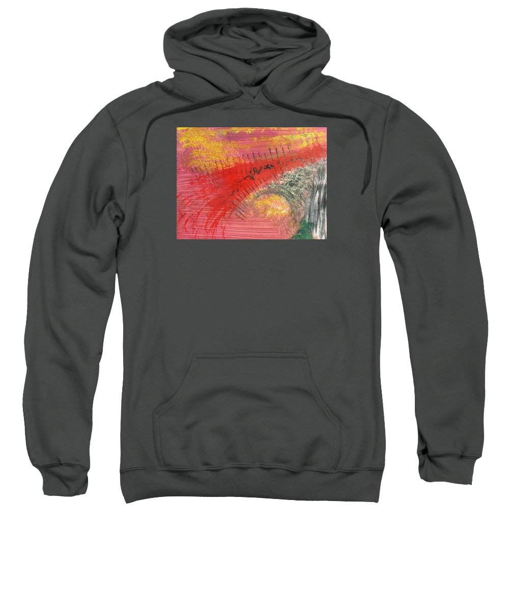 Acrylic Abstract Painting Sweatshirt featuring the painting Sunday Afternoon 15-r.rrr by Virginia Margarita