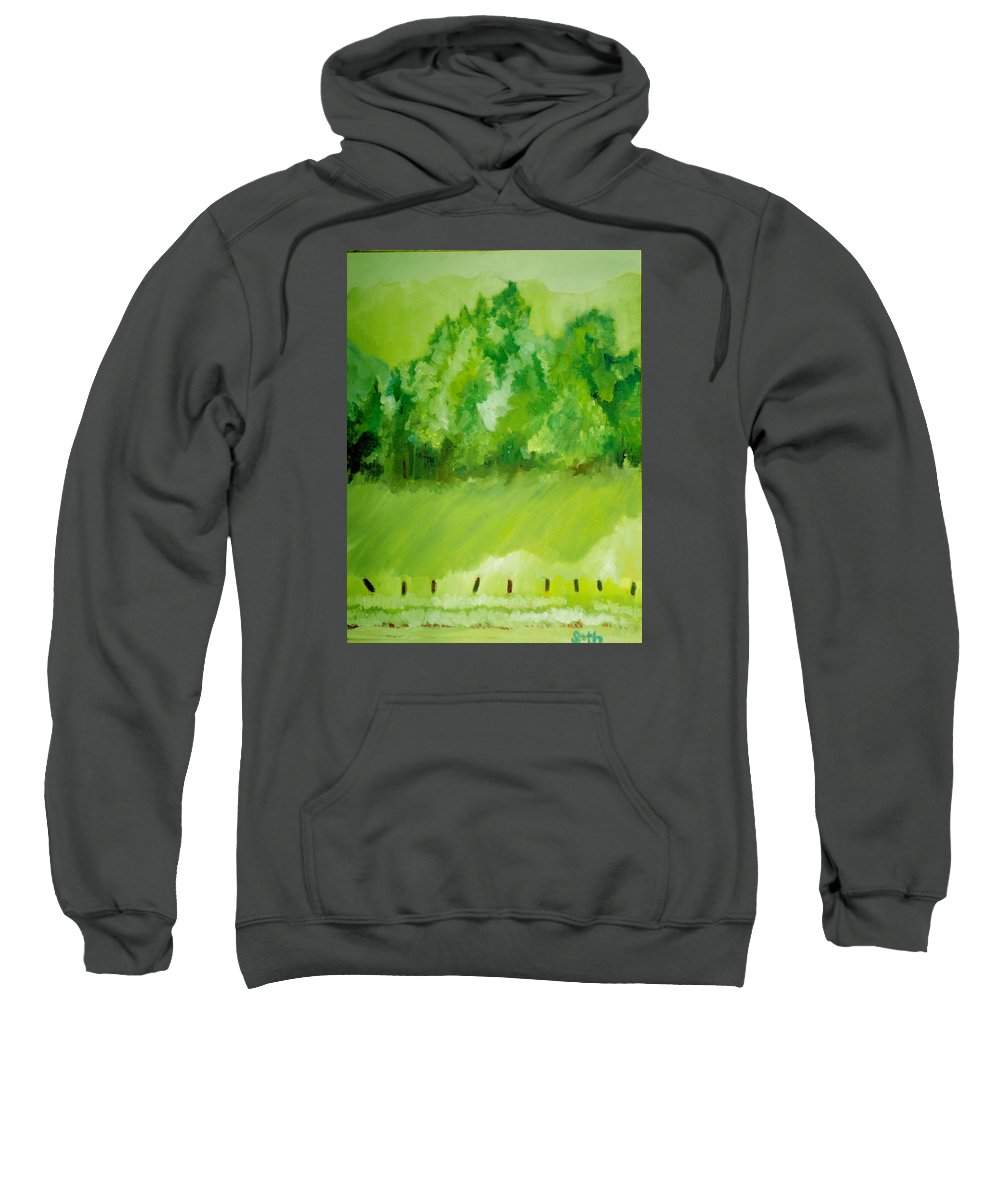 Spring Sweatshirt featuring the painting Sunday At Two Thirty by Seth Weaver