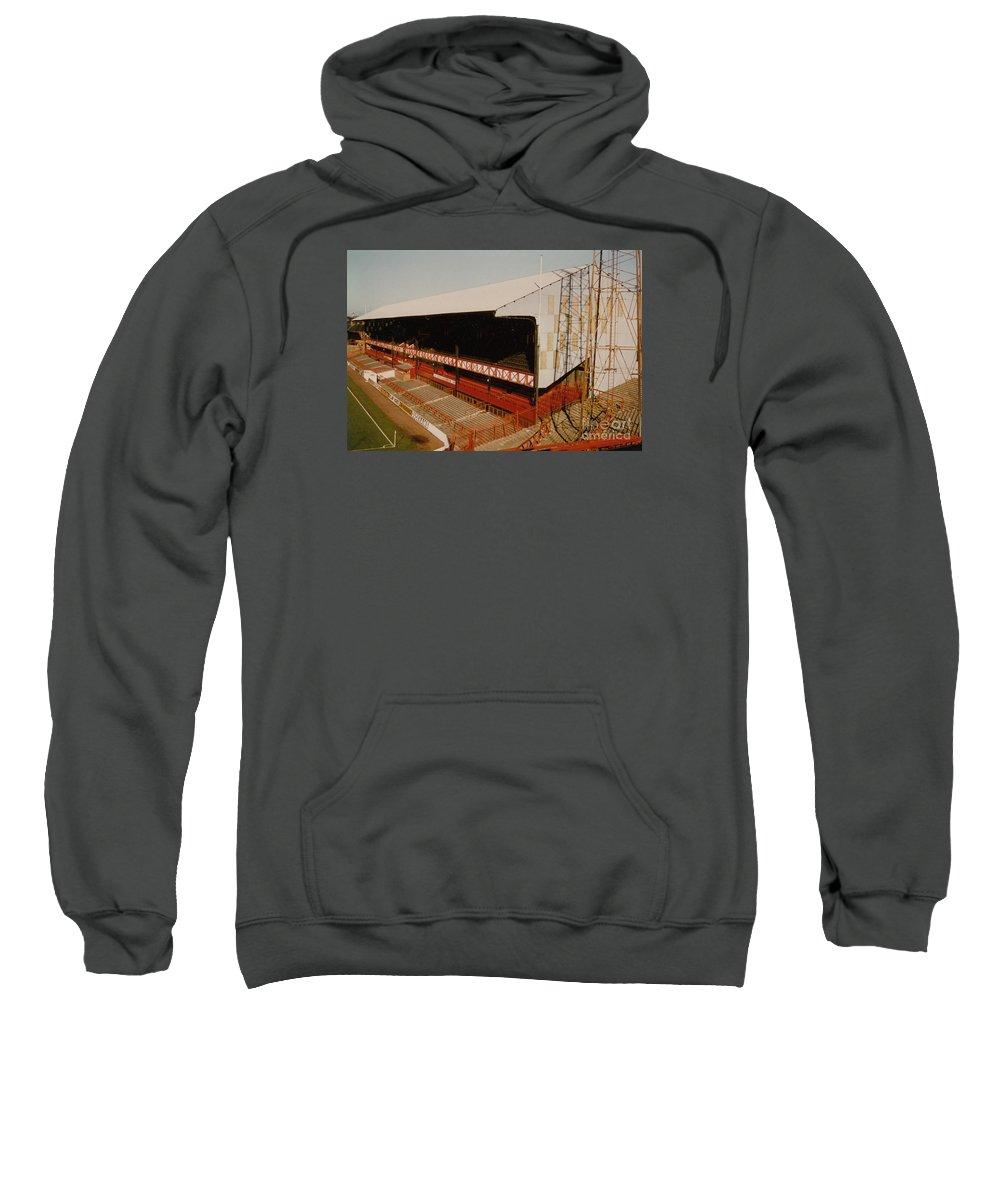 Sweatshirt featuring the photograph Sunderland - Roker Park - Main Stand 2 - Leitch - 1970s by Legendary Football Grounds