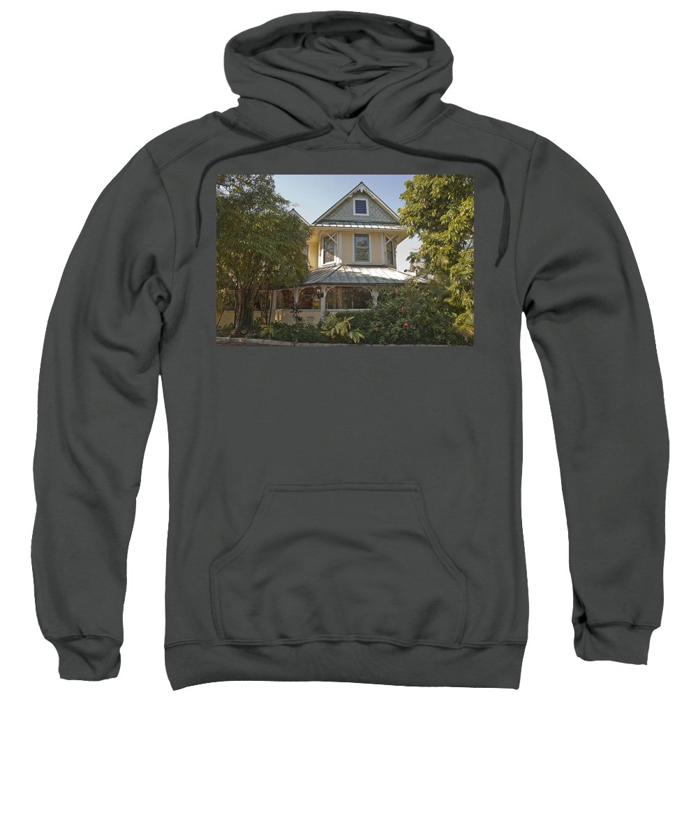 Sundy House Sweatshirt featuring the photograph Sundy House by Donna Walsh