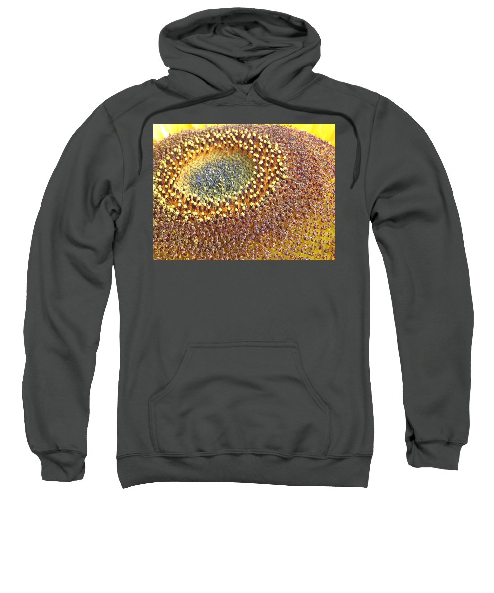 Sunflower Sweatshirt featuring the photograph Sunflower Heart by Line Gagne