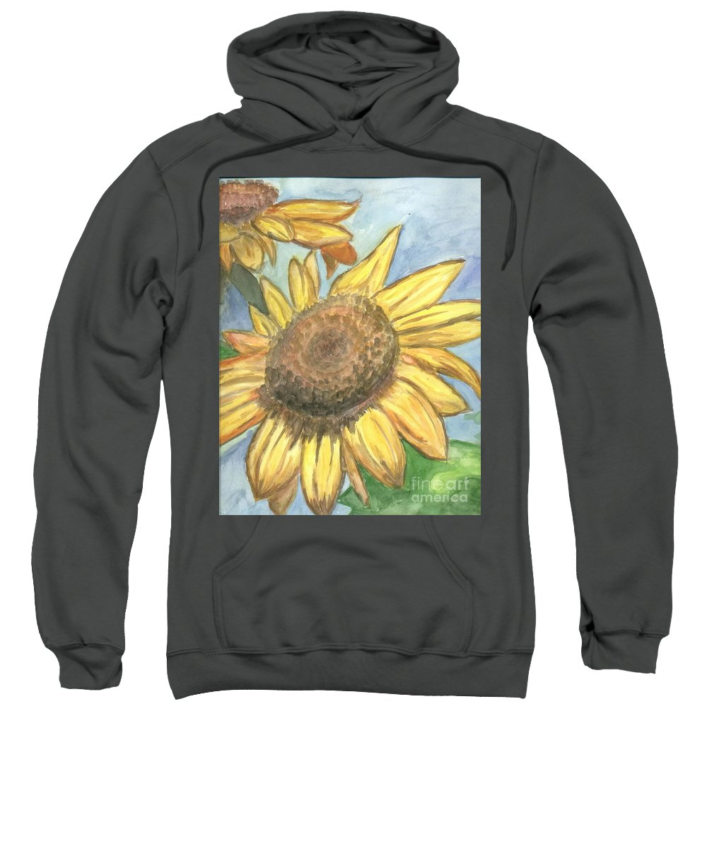 Daisy Sweatshirt featuring the painting Sunflowers by Jacqueline Athmann