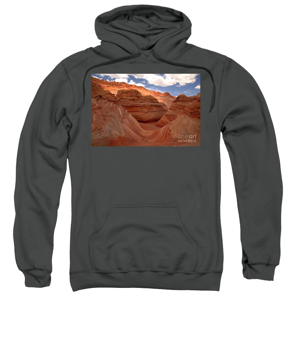 The Wave Sweatshirt featuring the photograph Sunkiss At Coyote Buttes by Adam Jewell