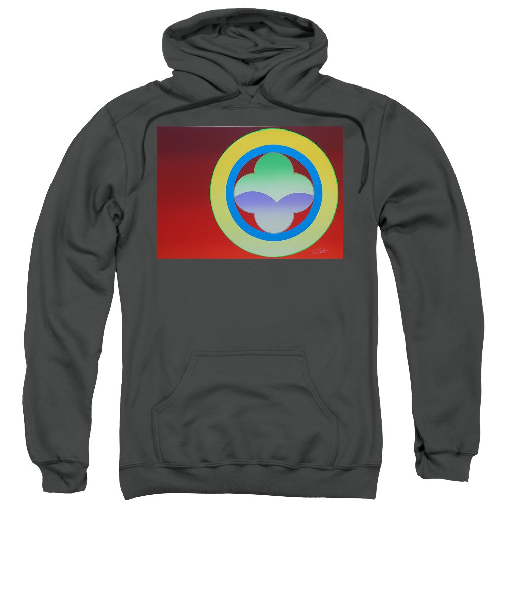 Insignia Sweatshirt featuring the painting Sunlight by Charles Stuart