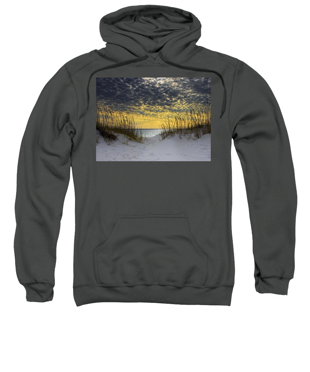 Coast Sweatshirt featuring the photograph Sunlit Passage by Janet Fikar