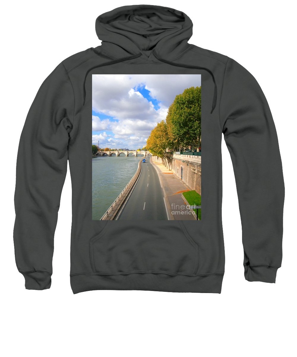 Paris Sweatshirt featuring the photograph Sunny Day In Paris by Charuhas Images